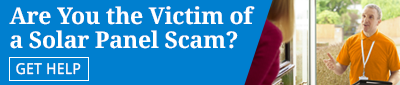 Click to contact us if you've been the victim of a solar panel scam