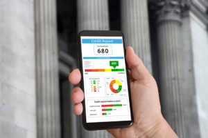 Credit report on mible smart phone