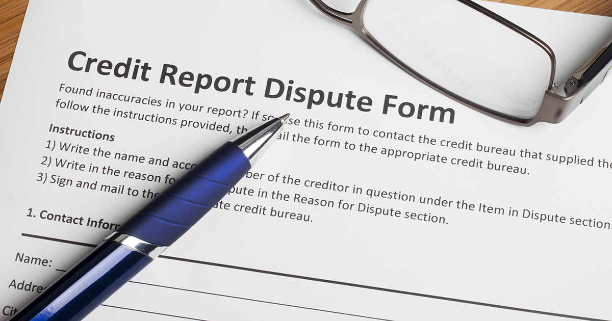 Credit Dispute Form or Letter
