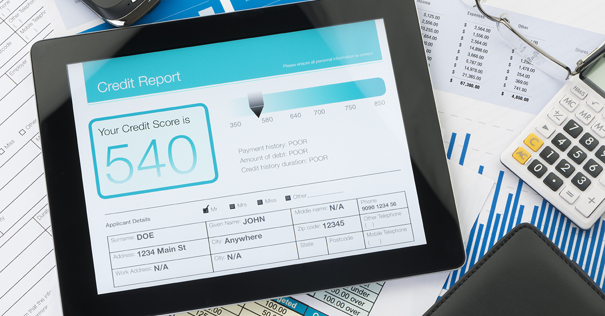 Credit Report on Tablet