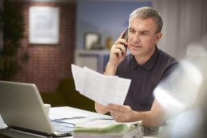 Man questioning credit report